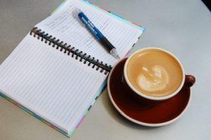Pen, Pad, Coffee
