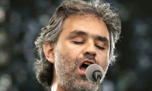 Andrea Boccelli on stage